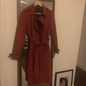 Fuad suede trench coat